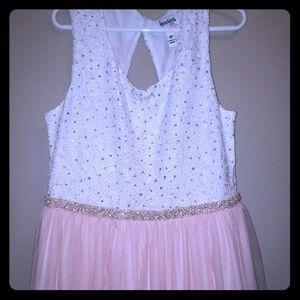 Girls long fancy dress size 10